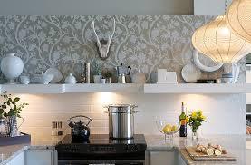 Washable Wallpaper For Kitchen Backsplash by Black White Coated Wallpaper As Backsplash Solid And Marble