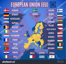 European Union Map Vector Map European Union Eu Without Stock Vector 535888576
