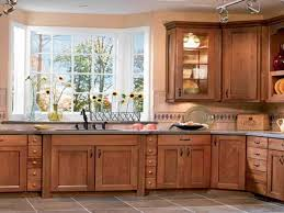simple kitchen cabinets design with glass windows 7652