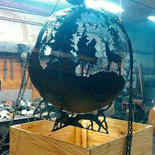 Fire Pit Globe by Melissa Crisp U0027s Artisan Fire Pit Spheres By Thefirepitgallery
