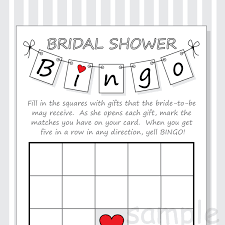 diy bridal shower bingo printable cards pennant design red