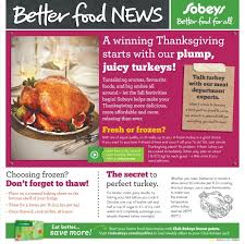 sobeys weekly flyer weekly flyer happy thanksgiving oct 3