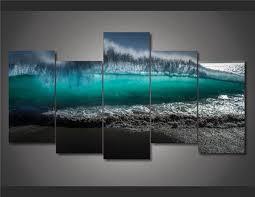 chambre de d馗ompression hd imprimé vagues du tsunami peinture sur toile chambre décoration d