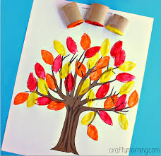 toilet paper roll leaf sting fall tree craft crafty morning