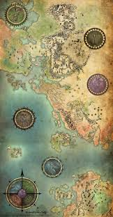 Thedas Map Mythical Cartography The Artistry Of Maps By Techgnotic On Deviantart
