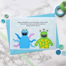 little monsters u0027 personalised birthday card by jenny arnott cards