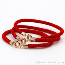 red rope bracelet images Top quality 316l titanium stainless steel bv love round clasp red jpg