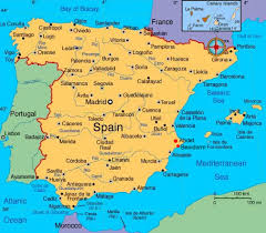 spain on a map maps of spain