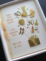 personalised 30th birthday card for daughter wife sister handmade
