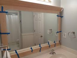 framing bathroom mirror with molding framing bathroom mirrors with crown molding creative bathroom