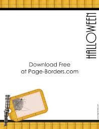 free halloween border printables customize onine