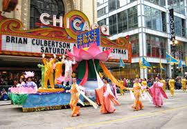 chicago u s a falun gong participates in thanksgiving parade