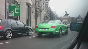 Rare Apple Green Bentley Continental Gt Speed Yes It U0027s Obviously