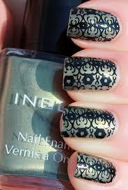 quickie konad inglot 138 with bundle monster stamping nail art