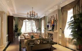 Villa Decoration by Greenery Decoration For Living Room Classical Villa Interior Design
