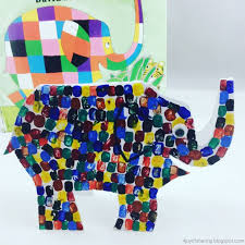 the joy of sharing elmer the patchwork elephant craft