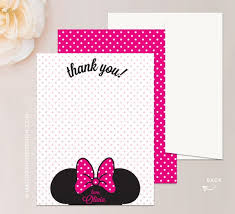minnie mouse thank you cards minnie mouse twodles thank you card mallory design