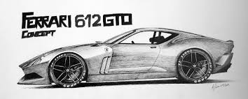 cars drawings drawn ferrari simple pencil and in color drawn ferrari simple