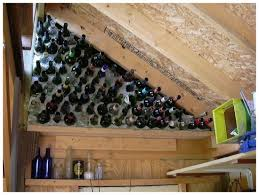another view of my wine bottle wall