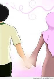 muslim couple holding hands u2013 drawings prophet pbuh peace be