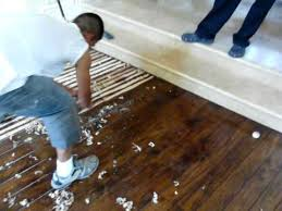 scraping hardwood floors