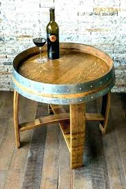 whiskey barrel side table whiskey barrel end table image of whiskey barrel coffee table whisky