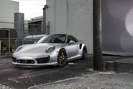 Porsche Turbo S Black 10 Spoke Wheels Center Lock Forged