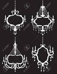 Metal Chandelier Frame Vector Illustration Of Chandelier Frame Set Royalty Free Cliparts