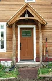 Building An Awning Over A Door Gable Roof Front Porch Addition Adding Ornate Wooden Eaves Gables