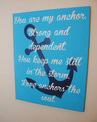 anchor sign anchor love sign inspirational gift ou are