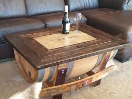 Wine Crate Coffee Table Diy by Wine Barrel Coffee Table Plans