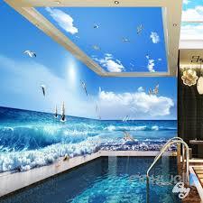 3d sea wave sail boat seagull beach entire room bathroom wallpaper 3d sea wave sail boat seagull beach entire room bathroom wallpaper wall mural art decor idcqw