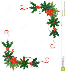 merry christmas border and decoration frame stock vector image