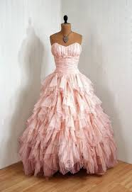 dress prom dress pink puffy pretty wedding dress ruffle