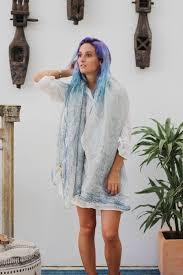 blue jeans cotton linen scarf for women and men linen shawl wrap