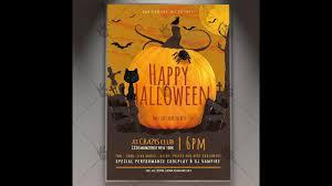 happy halloween party seasonal flyer psd template youtube