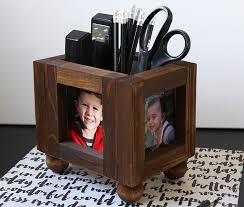 Desk Picture Frame Diy Desk Organizer Wood Photo Frames Consumer Crafts