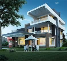 4 bedroom modern prairie home plan homepw75737 contemporary modern