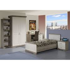 chambre une personne chambre à coucher enfant dominique 90 x 200 cm truffle et