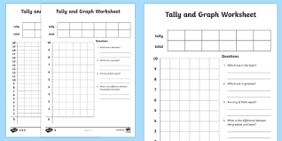 blank grid worksheet tally and graph activity sheet template tally template graph