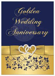 50th Wedding Anniversary Invitation Cards 50th Wedding Anniversary Invitation Navy And Gold Floral