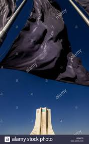Blue And Black Flag Mourning Black Flag Of Muharram Month And Azadi Tower Known As