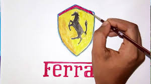 ferrari logo how can you draw the ferrari logo logo drawing youtube