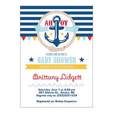nautical baby shower invitations personalized nautical baby shower invitations