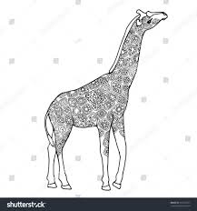 coloring wildlife colouring book zentangle giraffe page