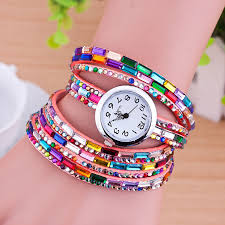 pink bracelet watches images T6295 fancy beads bracelet trendy watches jpg