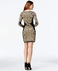 inc international concepts printed gold tone sweater dress only