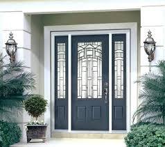 Steel Or Fiberglass Exterior Door Exterior Doors With Sidelights Enchanting Craftsman Fiberglass