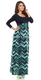 navy teal chevron maxi dress trendy modest clothing for women
