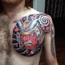 21 best samurai chest tattoos designs